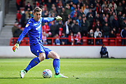 Nottingham Forest goalkeeper Costel Pantilimon (1)    during the EFL Sky Bet Championship match between Nottingham Forest and Blackburn Rovers at the City Ground, Nottingham, England on 13 April 2019.