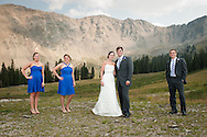 Stephanie Clendenen and Scott Gendron are married at The Black Mountain Lodge at Arapahoe Basin Ski Resort on Friday, Aug. 17, 2012. Joshua Buck // Joshua & Co. Photography // www.joshuacophotography.com