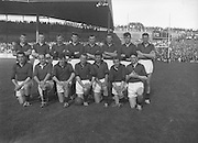All Ireland Senior Football Championship Final, 24.09.1961, 09.24.1961, 24th September 1961, Down 3-6 Offaly 2-8, 24091961AISFCF,.Down Team.Back row (from left) S MacCartan, A Haddon, J Lennon, L Murphy, P J McElroy, J Smith, D MacCartan, P Rice. Front row (from left) J Carey, B Morgan, J O'Neill, P Doherty, G Lavery, E McKay, P O'Hagan, .