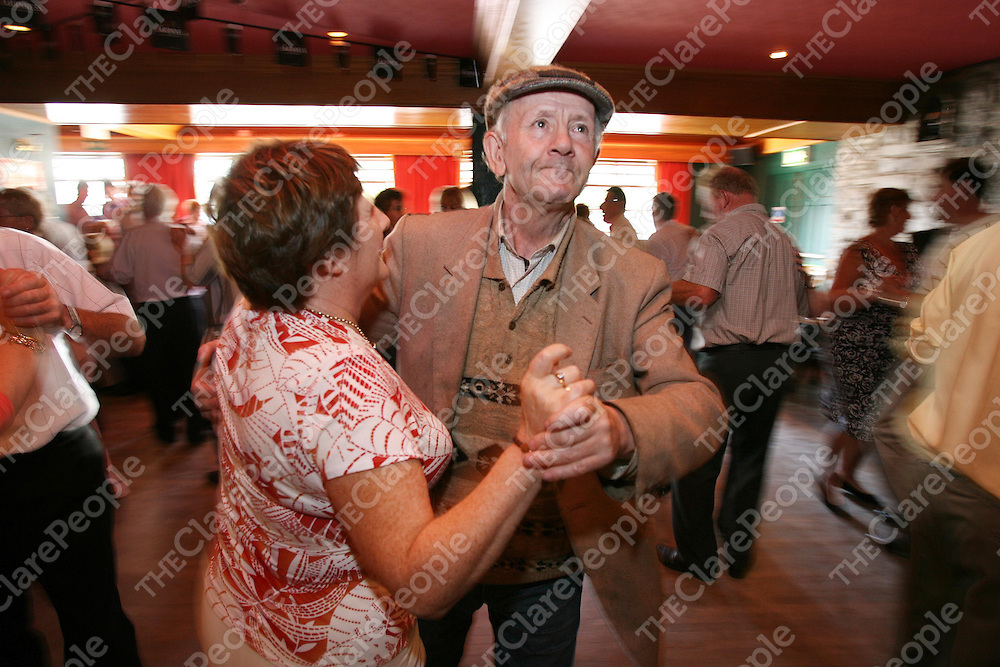 Mathew Vaughan,Newmarket on Fergus and Mary Brennan enjoying the dancing at the Matching Festival in Lisdoonvarna last weekend.<br />Photograph by Eamon Ward