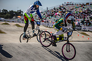 13 Girls #26 (MASETI Miyanda) RSA at the 2018 UCI BMX World Championships in Baku, Azerbaijan.