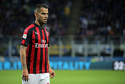 October 21, 2018 - Milan, Milan, Italy - Suso #8 of AC Milan during the serie A match between FC Internazionale and AC Milan at Stadio Giuseppe Meazza on October 21, 2018 in Milan, Italy. (Credit Image: © Giuseppe Cottini/NurPhoto via ZUMA Press)