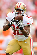 San Francisco 49ers running back Kendall Hunter (32) during the 49ers 33-14 win over the Tampa Bay Buccaneers at Raymond James Stadium on December 15, 2013 in Tampa, Florida.                                    ©2013 Scott A. Miller