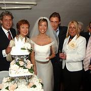 Huwelijk Renee Vervoorn en Francis Zwaneveld in kasteel Sypesteijn Loosdrecht, wederzijdse ouders