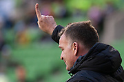 MELBOURNE, VIC - NOVEMBER 09: Wellington Phoenix operations manager Shaun Gill gestures during warm up at the Hyundai A-League Round 4 soccer match between Melbourne City FC and Wellington Phoenix on November 09, 2018 at AAMI Park in Melbourne, Australia. (Photo by Speed Media/Icon Sportswire)