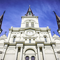 New Orleans Cathedral-Basilica of St. Louis King of France. St. Louis Cathedral church is located in Jackson Square in the French Quarter of New Orleans and was completed in 1794.