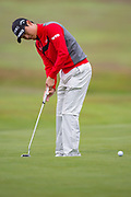 Wang Jeung-hun of South Korea puts during the British Masters 2018 at Walton Heath Golf Course, Walton On the Hill, Surrey on 14 October 2018. Picture by Martin Cole.