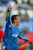 WIGAN ATHLETIC V CREWE ALEXANDRA<br />WIGAN'S LEE MCCULLOCH CELEBRATES EQUALIZER