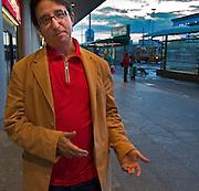 Carlos Jose Somoza, spainsh writer in center of Warsaw Poland Photo Piotr Gesicki