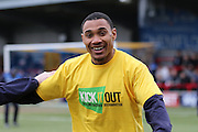 Darius Charles of AFC Wimbledon makes his debut for AFC Wimbledon prior the Sky Bet League 2 match between AFC Wimbledon and York City at the Cherry Red Records Stadium, Kingston, England on 19 March 2016. Photo by Stuart Butcher.