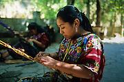Antigua: Mayan weavers of San Antonio Aguas Calientes near Acatenango volcano.