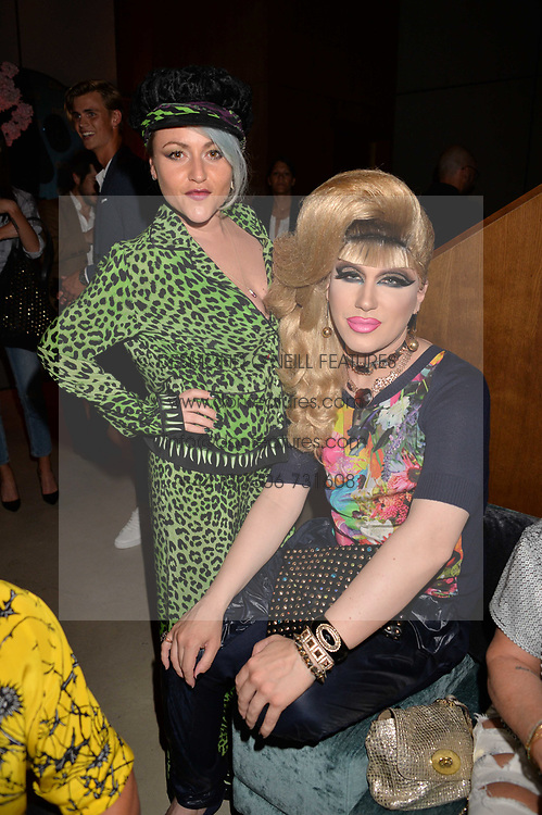 Jaime Winstone and Jodie Harsh at the Warner Music Group and British GQ Summer Party in partnership with Quintessentially held at Nobu Shoreditch, Willow StreetLondon England. 5 July 2017.<br /> Photo by Dominic O'Neill/SilverHub 0203 174 1069 sales@silverhubmedia.com