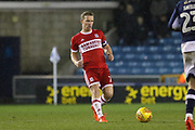 Middlesbrough midfielder Grant Leadbitter (7) during the EFL Sky Bet Championship match between Millwall and Middlesbrough at The Den, London, England on 16 December 2017. Photo by Phil Duncan.