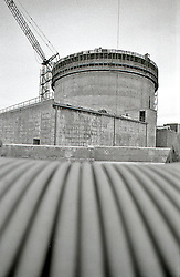 Power Plant Construction, B/W Image