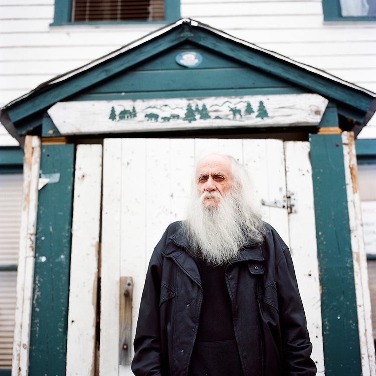 TALKEETNA, ALASKA - 2010: Artist Jim Gleason.