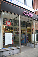 Game store on Dawson Street after it closed following the computer games group collapsed into administration