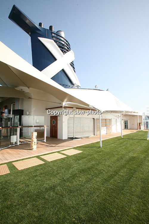 Celebrity Eclipse interior photos..The grass deck