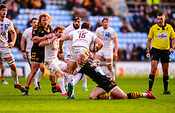 Dan Robson of Wasps tackles Nans Ducuing of Bordeaux-Begles - Mandatory by-line: Dougie Allward/JMP - 18/01/2020 - RUGBY - Ricoh Arena - Coventry, England - Wasps v Bordeaux-Begles - European Rugby Challenge Cup