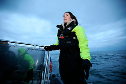 NORWAY ANDENES 8DEC15 - French whale researcher Eve Jourdain during a boat trip off the coast of Andenes, Norway.<br /> <br /> jre/Photo by Jiri Rezac / Greenpeace<br /> <br /> © Jiri Rezac 2015