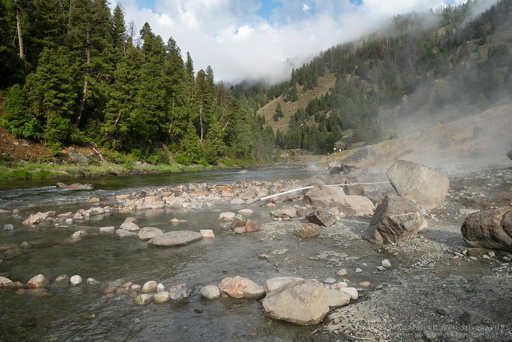 Sunbeam hot springs along the Salmon River Idaho