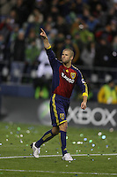 SEATTLE - NOVEMBER 22: Chris Wingert #17 of Real Salt Lake celebrates his goal against the  Los Angeles Galaxy in the MLS Cup final at Qwest Field on November 22, 2009 in Seattle, Washington. (Photo by Tom Hauck)