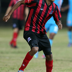 DURBAN, SOUTH AFRICA - AUGUST 03: Mario Booysen of Maritzburg Utd during the Absa Premiership match between Maritzburg United and Polokwane City at Harry Gwala Stadium on August 03, 2013 in Durban, South Africa. (Photo by Steve Haag/Gallo Images)