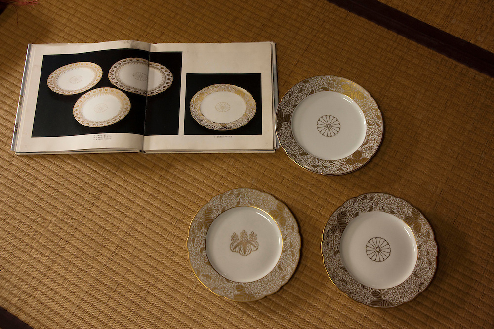 "the Tsuji House has a 350-year history and superb technique for making white porcelain. Since the generation of the one hundred eleventh Emperor Reigen(1664), the Tsuji House has been taking orders for tableware from the Japanese Imperial Household. The House of Tsuji was the first kiln to make white porcelain tableware for imperial use. This distinction can be seen by comparing the other porcelain painters in Arita such as Kakiemon and Imaemon--Kakiemon House is called ""the kiln of the common people"" and Imaemon House is called ""the kiln of the feudal domain,"" but Tsuji House is called ""the kiln for the Imperial Household.""..In the Meiji Era, the Tsuji House continued to make white porcelain tableware for the Imperial Household, to whom they supplied nearly all of their work. Therefore, there was no sign on their works, and only a few pieces were sold to private citizens as they were very difficult to purchase. Tsuji ceramics from this era are therefore extremely prized by collectors...Working for the Imperial Household requires consistent creation of the best porcelain. Compared with ""Somenishiki"" (porcelain with blue underglaze and enamel overglaze), ""Sometsuke"" (blue underglazing with cobalt oxide) requires delicate and demanding craftsmanship because the porcelain painters must obtain all artistic effects through the use of a single color, cobalt blue. Sometsuke porcelain has fascinated people all over the world for centuries, and it accounts for a significant percentage of the world's collected porcelain and ceramics due to its popularity. However, very few porcelain painters produce Sometsuke ware at present. Of those who do make Sometsuke, the fourteenth Tsuji, Hitachi Tsuji, is recognised as a superb artist who crafts traditional arts to perfection."
