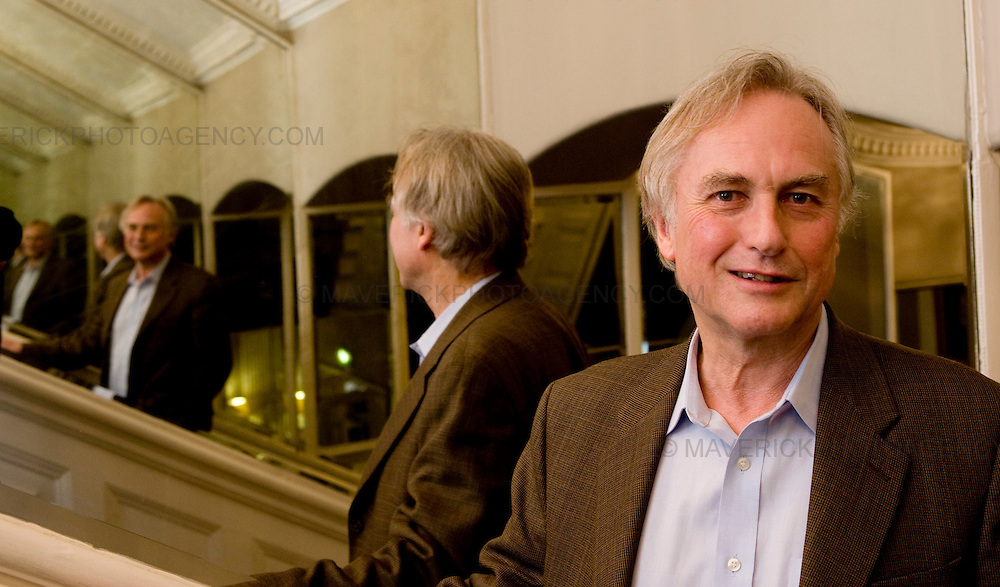 Portrait session with author Richard Dawkins at the Balmoral Hotel in Edinburgh, Scotland - 9th August 2008.