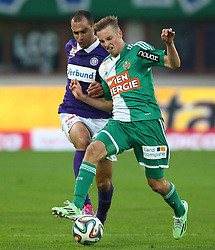 09.11.2014, Ernst Happel Stadion, Wien, AUT, 1. FBL, SK Rapid Wien vs FK Austria Wien, 15. Runde, im Bild Omar Damari (FK Austria Wien) und Mario Pavelic (SK Rapid Wien) // during a Austrian Football Bundesliga Match, 15th Round, between SK Rapid Vienna and FK Austria Vienna at the Ernst Happel Stadion, Wien, Austria on 2014/11/09. EXPA Pictures © 2014, PhotoCredit: EXPA/ Thomas Haumer