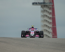 October 20, 2018 - Austin, USA - Racing Point Force India driver Esteban Ocon (31) of France comes around Turn 10 during qualifying at the Formula 1 U.S. Grand Prix at the Circuit of the Americas in Austin, Texas on Saturday, Oct. 20, 2018. (Credit Image: © Scott Coleman/ZUMA Wire)