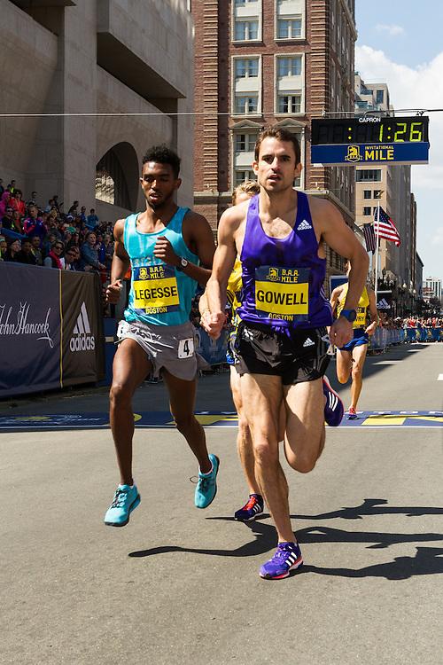 Boston Marathon: BAA 5K road race, Invitational Mens Mile, Gowell, Legesse