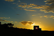 Outback building at sunset.<br /> <br /> Larger JPEG + TIFF images available by contacting use through our contact page at :..www.photography4business.com