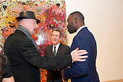 TIM BLOXHAM; LORD BROWNE; CHRIS OFILI,  Chris Ofili dinner to celebrate the opening of his exhibition. Tate. London. 25 January 2010