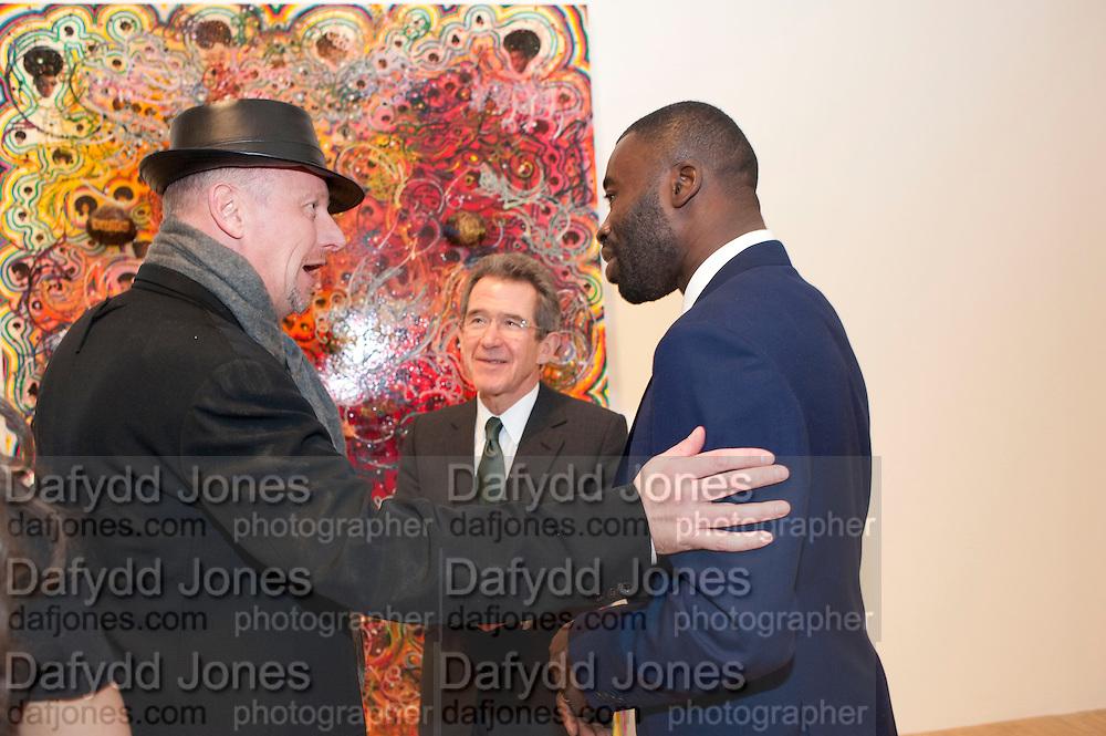 TIM BLOXHAM; LORD BROWNE; CHRIS OFILI,  Chris Ofili dinner to celebrate the opening of his exhibition. Tate. London. 25 January 2010