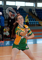 20 Aug 2016:  Grace Leonard, 13, from Offaly.   Badminton U15 Girls.   2016 Community Games National Festival 2016.  Athlone Institute of Technology, Athlone, Co. Westmeath. Picture: Caroline Quinn