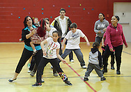 Middletown, New York - Children and adults dance at Family Night at the Middletown YMCA on April 2, 2011.