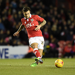 Bristol City's Marlon Pack in action during the Johnstone's Paint Trophy south area final second leg match between Bristol City and Gillingham at Ashton Gate on 29 January 2015 in Bristol, England - Photo mandatory by-line: Paul Knight/JMP - Mobile: 07966 386802 - 29/01/2015 - SPORT - Football - Bristol - Ashton Gate Stadium - Bristol City v Gillingham - Johnstone's Paint Trophy