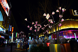 February 5, 2018 - Beijing, Beijing, China - Beijing,CHINA-5th February 2018: Lighting show at Wangfujing Pedestrian Street in Beijing. (Credit Image: © SIPA Asia via ZUMA Wire)