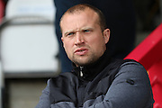 Newport County Manager Warren Feeney prior the Sky Bet League 2 match between AFC Wimbledon and Newport County at the Cherry Red Records Stadium, Kingston, England on 7 May 2016. Photo by Stuart Butcher.