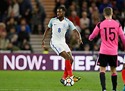 Josh Ononmah of England during the U21 UEFA EURO first qualifying round match between England and Scotland at the Riverside Stadium, Middlesbrough, England on 6 October 2017. Photo by Paul Thompson.