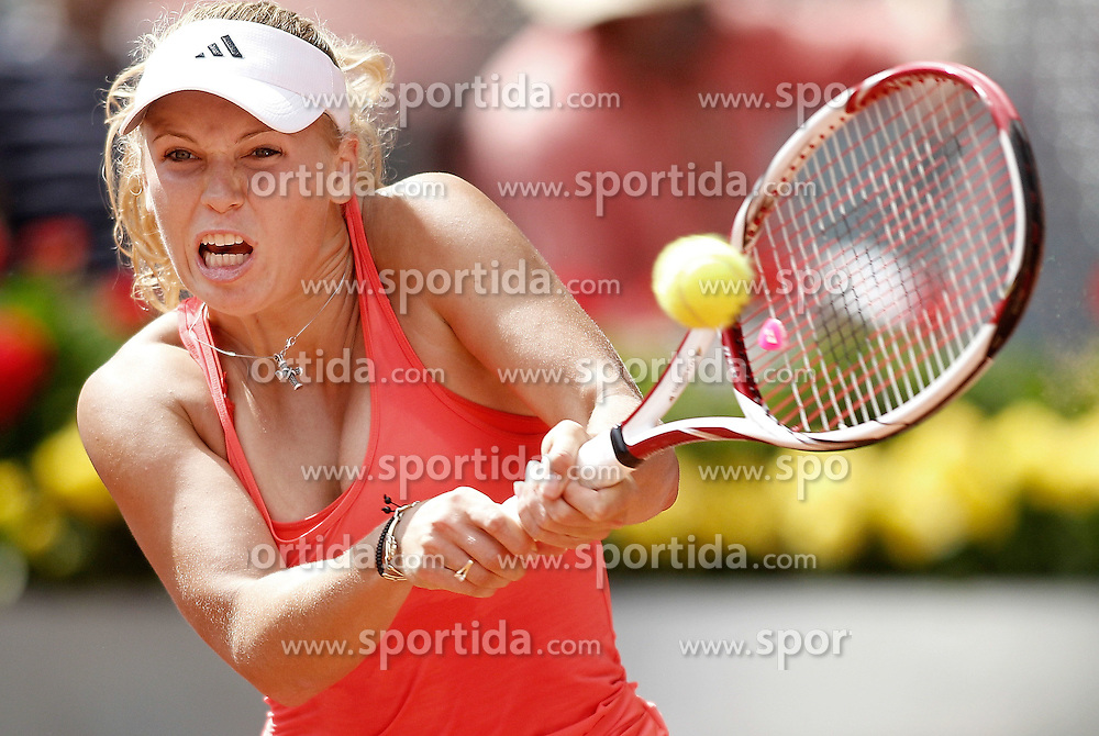 03.05.2011, Marid, ESP, WTA Tour, Mutua Madrid Open, im Bild Caroline Wozniacki during Madrid Open Tennis tournament Match. May 03, 2011. EXPA Pictures © 2011, PhotoCredit: EXPA/ Alterphotos/ Alvaro Hernandez +++++ ATTENTION - OUT OF SPAIN / ESP +++++
