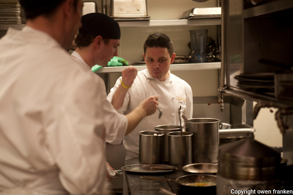 .the kitchen of Cafe Boulud, NYC.