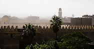 Egypt . Cairo : Al Hakim mosque  in Gamalyya , fatimid period; on north walls islamic Cairo.