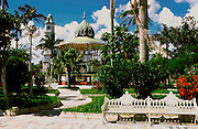 MEXICO, VERACRUZ STATE Tlacotalpan, colonial town plaza