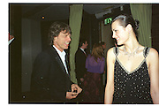 Mick Jagger and Jasmin Le Bon Miramax post Bafta's party. Noble Rot. 9 April 2000. © Copyright Photograph by Dafydd Jones 66 Stockwell Park Rd. London SW9 0DA Tel 020 7733 0108 www.dafjones.com