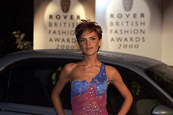 Rover British National Awards 2000, to close London Fashion Week, Natural History Museum ...POSH SPICE ARRIVING, February 18, 2000. Photo by Andrew Parsons / i-images..