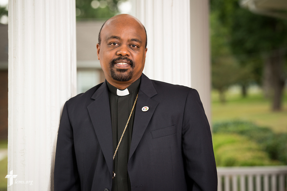 A portrait of Rev. Dr. Tilahun Mekonnen Mendedo, president of Concordia College Alabama, on Tuesday, August 18, 2014, in Selma, Ala.  LCMS Communications/Erik M. Lunsford
