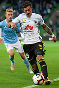 MELBOURNE, VIC - NOVEMBER 09: Wellington Phoenix defender Tom Doyle (19) keeps the ball in play at the Hyundai A-League Round 4 soccer match between Melbourne City FC and Wellington Phoenix on November 09, 2018 at AAMI Park in Melbourne, Australia. (Photo by Speed Media/Icon Sportswire)