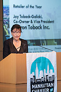 2014 Retailer of the Year, Joy Toback-Galicki, Co-owner & Vice President, Myron Toback Inc. Celebrating the business leaders in New York City, who have built outstanding businesses - contributing to the economy and community as well. The MCC Business Awards Breakfast is the Manhattan Chamber's premiere event adn was attended by over 250 entrepreneurs, business owners, executives and legislative leaders in New York City. (Photo: www.JeffreyHolmes.com)