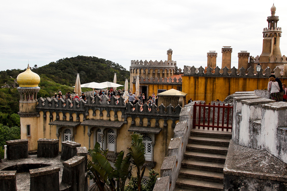 Terrace of the Pena National Palace, Sintra, Portugal. PHOTO PAULO CUNHA/4SEE
